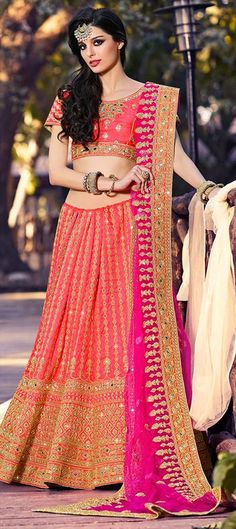 trendy Red Pink Lehenga ~ 193969 Red and Maroon  color family Bridal Lehenga in Art Silk fabric with Border, Machine Embroidery, Mirror, Thread, Zari work .  #designerlehenga #Designer #Saree #Sari #Embroidery #DesignerWears #Occasion #IndianDresses #Partywears #Indian #Women #Bridalwear #Fashion #Fashionista #OnlineShopping #Lehenga #DesignerBlouse