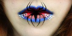 Creepy Halloween Lip Art | Cyber Gazing
