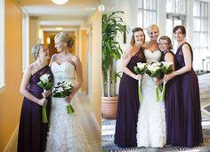 Beach weddings  |  Purple bridesmaids dresses  |  Aubergine bridesmaids dresses   |  Watercolor  |  Florida Wedding Photographers  (Aislinn Kate Photography)