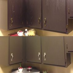 Before/after of my cupboards!!!