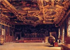 Interior of the Doge's Palace - John Singer Sargent