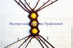 braccialetto macramè con perle - macrame bracelet tutorial - Кольцо-2 в технике макраме - Ярмарка Мастеров - ручная работа, handmade