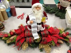 Christmas Traditions Santa Centerpiece  design by Christian Rebollo for store 2870