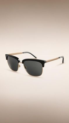 H-A-L-E.COM SHADES OF SUMMER pick -Burberry Trench Collection Square Frame Sunglasses- #HALE #30DaysOfSummer