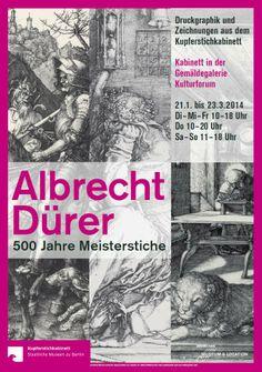 "Plakat ""Albrecht Dürer - 500 Jahre Meisterstiche"""