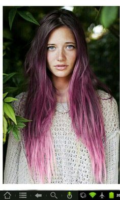 ombre lavender hair