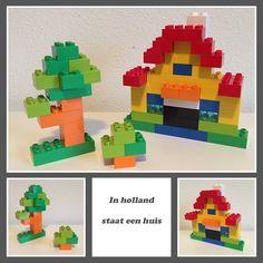Huis met boom en struik