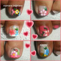 French Pedicure, Pedicure Nail Art, Toe Nail Art, Nail Art Diy, Manicure, Fancy Nails Designs, Pedicure Designs, Toe Nail Designs, Crazy Nail Art