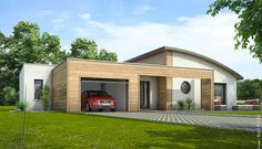 Maison contemporaine Améthyste House Extension Ireland, Sims 4 Houses, Garden Studio, House Extensions, Dream House Plans, Prefab, Modern House Design, Exterior Design, Home Remodeling