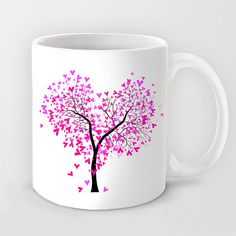 Personalized mug cup designed PinkMugNY- Heart tree Personalized mug cup. Personalized mug cup designed PinkMugNY- Heart tree Personalized mug cup designed PinkMugNY Painted Coffee Mugs, Hand Painted Mugs, Painted Cups, Mug Crafts, Sharpie Crafts, Diy And Crafts, Pottery Painting, Ceramic Painting, Diy Becher