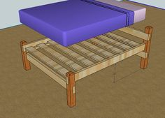 simple queen bed frame by luckysawdust lumberjockscom woodworking community - Wooden Bed Frames Queen