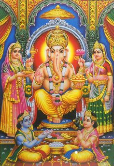 """Blessing Lord Ganesha Ganapati Large Hindu Religious Poster 21""""X 31"""" (LM7731) picclick.com"""