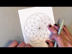 How to Draw the Flower of Life - YouTube