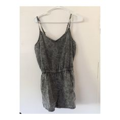 Romper Good condition gray/blk romper Other
