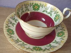 UNIQUE Vintage Aynsley bone china tea cup set, hand painted tea cup and saucer…