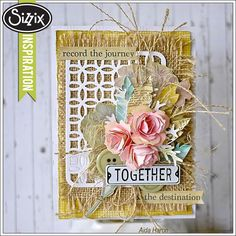 Sizzix Inspiration   Together Card with Burlap by Aida Haron