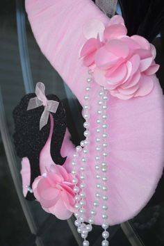 Door decoration at a Barbie birthday party! See more party ideas at CatchMyParty.com!