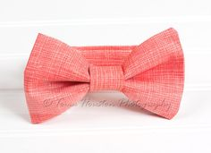 Boy's Bow Tie Newborn Baby Child Coral by Tomastutusandthings, $11.00