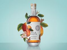 Wild Roots Vodka Packaging by Kristin Casaletto Lovely illustrated packaging set by Portland-based designer and artist Kristin Casaletto. More packaging design via Behance Juice Packaging, Beverage Packaging, Bottle Packaging, Brand Packaging, Design Packaging, Bottle Labels, Coffee Packaging, Branding Design, Kombucha