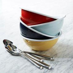 Colored Enamel Bowls.