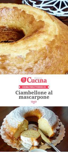 Ciambellone al mascarpone della nostra utente Tiziana. Unisciti alla nostra Community ed invia le tue ricette!