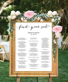 Wedding Seating Chart - Seating Chart Ideas - Wedding Reception - Please Find Your Seat - Table Arrangement by CreativeUnionDesign.Etsy.com
