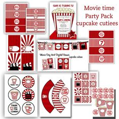 Movie Time Star Digital Party Pack set by CupcakeCutieesParty Kids Movie Party, Movie Star Party, Movie Theater Party, Backyard Movie Party, Outdoor Movie Party, Cinema Party, Movie Night Party, Party Time, Hollywood Party