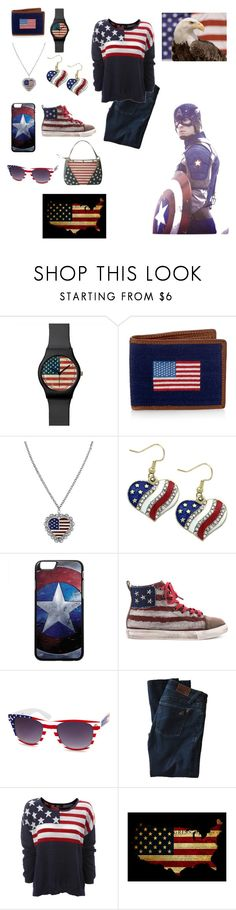 """""""All American"""" by ymccurdy ❤ liked on Polyvore featuring 1928, Penny Sue, Charlotte Russe, DL1961 Premium Denim and MINNA"""