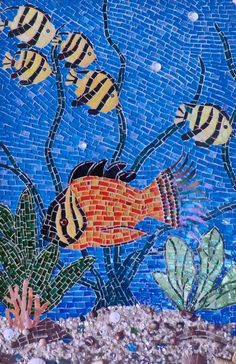 Undersea Paradise - from Delphi Artist Gallery by Mosaic horses