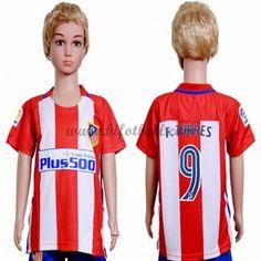 Billiga Fotbollströjor Kits Atletico Madrid Barn 2016-17 Fernando Torres 9 Kortärmad Hemma Fotbollsdräkter