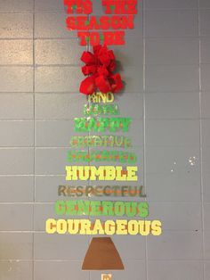 Counseling Bulletin Boards, Red Ribbon, Seasons, School, Holiday, Artwork, Vacations, Work Of Art, Auguste Rodin Artwork