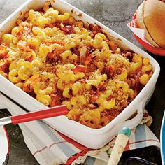 Chipotle-Bacon Mac and Cheese: Made this tonight with a few changes -- ditalini pasta, 1/3 less butter, 1/4 less half & half, 1/2 of the cheese it calls for and did gouda/cheddar/italian blend mix instead of all cheddar. Was great!