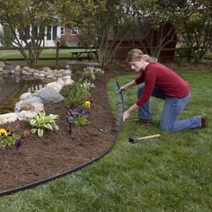 Easyflex 30 Ft Tall Wall No-Dig Landscape Edging