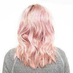 Pink wavy locks
