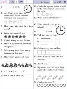 Mental Math Grade 1 Day 11 Mental Math Grade 1 Day 11 More from my site Mental Math Grade 1 Day 20 Mental Math Grade 1 Day 23 Mental Math Grade 4 Day 17 Mental Math Grade 2 Day 23 Mental Math Grade 2 Day 29 Mental math multiplication Mental Maths Tests, 4th Grade Math Worksheets, Kindergarten Math Games, Math Test, 1st Grade Math, Class 1 Maths, Preschool Worksheets, Math Olympiad, Olympiad Exam