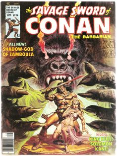 The Savage Sword of Conan the Barbarian. Vol. 1, No. 14. U.S. Comic. Sept. 1976