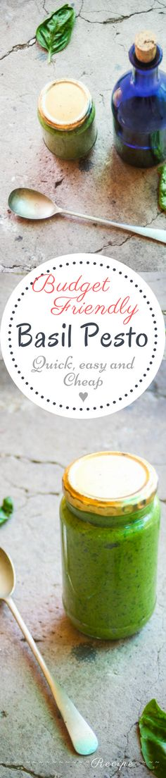 Pesto is one of the best homemade condiments to have in your fridge. (Beatific music plays in background) The reason for this is it is packed with super healthy ingredients, carries the inherent he… Fast Dinner Recipes, Fast Dinners, Quick Meals, Basil Pesto Recipes, Group Meals, Healthy Recipes, Sweets Recipes, Healthy Dinners, Rice Dishes