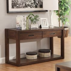 Riverside Riata Console Table - Warm Walnut - Console Tables at Hayneedle