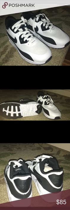 Nike  Air max 90 brand new size 3Y Black and white Nike Air Max 90 brand new. Size 3Y but I'm a women's 5 and they fit me Nike Shoes Athletic Shoes