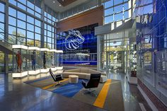 university athletics interior design graphic on glass - Google Search