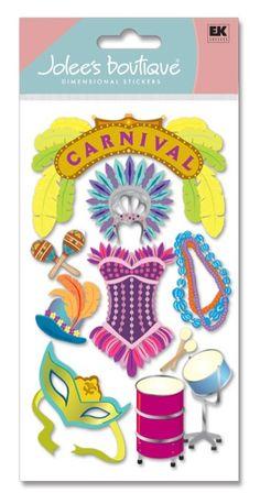 Scrapbooking Stickers | Carnival - Jolees Le Grande 3D Scrapbooking Stickers