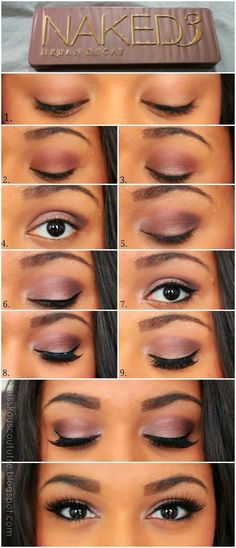 Light purple smokey eye