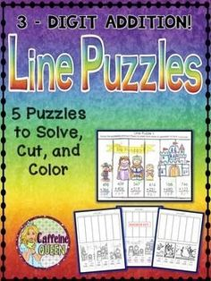 No Prep - tons of fun!  Addition Puzzles - self checking! $
