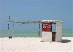 Beach at Celestun  deserted stand - Yucatan, Mexico
