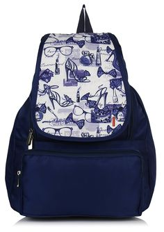 Bag-Age Women's Backpack Handbag(Blue,Messenge Queen)