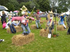 Best Scarecrow Competition at our village fair.     Can this year's People's Day Country Fayre Zone competition top this? :)