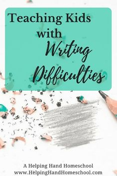 Tips and tricks to teach kids with writing challenges including dyslexia dysgraphia processing disorders developmental readiness and physical issues. Read more at A Helping Hand Homeschool! Teaching Kids To Write, Teaching Writing, Writing Activities, Teaching Tips, Dyslexia Teaching, Writing Resources, Writing Curriculum, Writing Lessons, Kids Writing