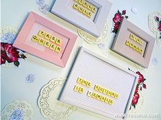 Repurpose some old Scrabble tiles and picture frames together to create cute and colourful word art. Scrabble Art, Scrabble Tiles, Word Art, Fun Projects, Repurpose, Picture Frames, Gallery Wall, Create, Pictures
