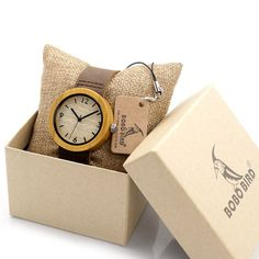 Women's Japan Quartz Bamboo Wood Grain Wristwatch