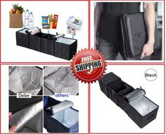 Heavy-Duty-Car-Trunk-Organizer-Folding-Grocery-Sturdy-2-Cooling-4-Compartment
